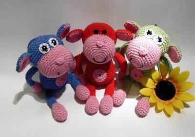 Free Pattern Amigurumi Monkey | Crochet monkey pattern, Crochet ... | 282x400