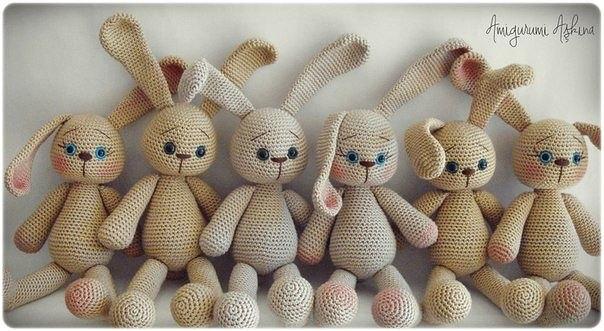 Uncinetto Russo.Conigli Schema Originale Russo Amigurumi Magicischemitradotti